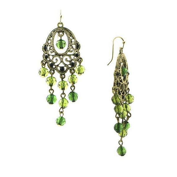 Fashion Jewelry - Aberdeen Green Chandelier Earrings