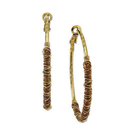 14K Gold-Dipped Clutch Wrapped Hoop Earrings