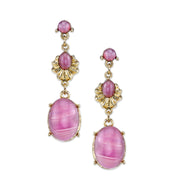 Gold-Tone Lt. Purple Teardrop Earrings