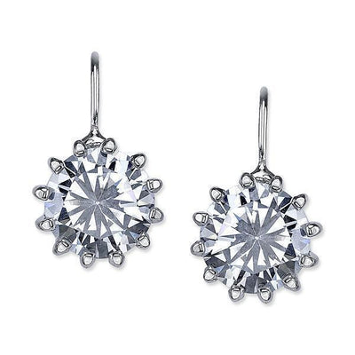 Silver Tone Cubic Zirconia Drop Earrings