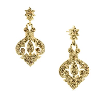 Gold Tone Lt. Colorado Drop Earrings