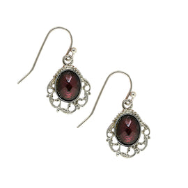 1928 Jewelry Silver-Tone Purple Drop Earrings