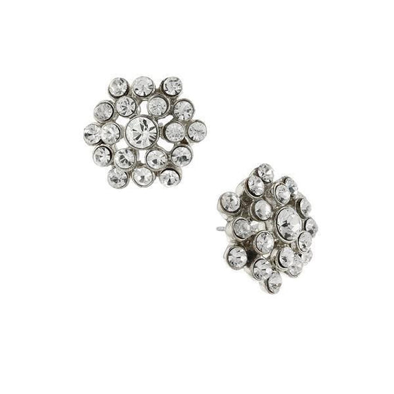Fashion Jewelry - 2028 Crystal Cluster Stud Earrings