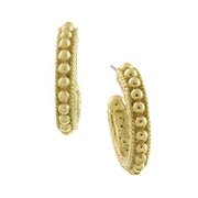 Gold-Tone Dotted Hoop Earrings