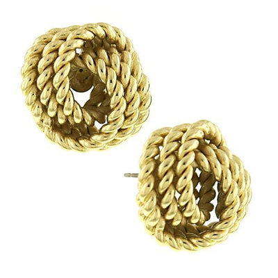 Gold Tone Knot Earrings