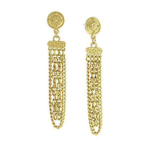 Gold-Tone Chain Drop Earrings