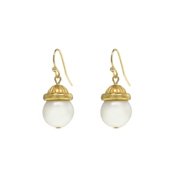 1928 Jewelry Petite Costume Pearl Drop Earrings