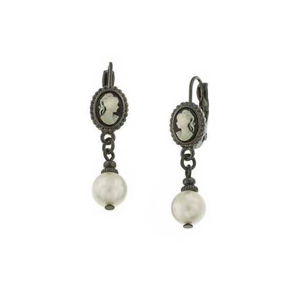 Kimberly's Cameos Pearl Drop Earrings