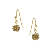 1928 Jewelry Gold-Tone Pave 6mm Cluster Drop Earrings