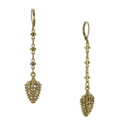 Gold Tone Linear Earrings