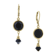 1928 Jewelry Gold Tone Swarovski Chanel Drop Earrings