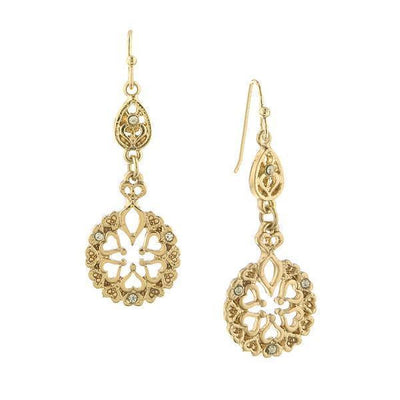 Gold-Tone Drop Earrings