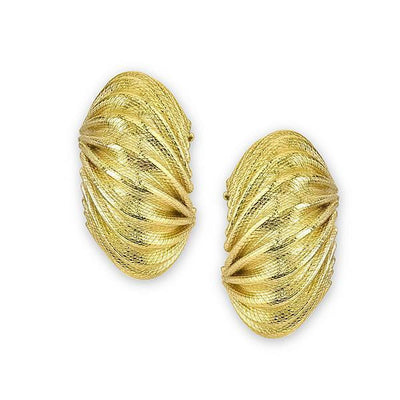 Gold-Tone Half Hoop Post Earrings