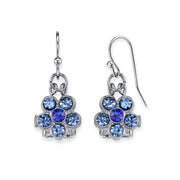 1928 Jewelry Six Crystal Flower Shaped Drop Earrings