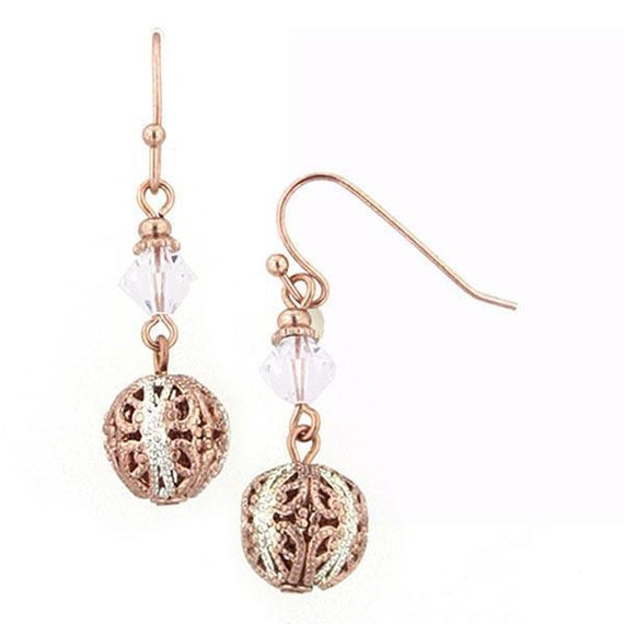 Pink Champagne Dual Drop Earrings
