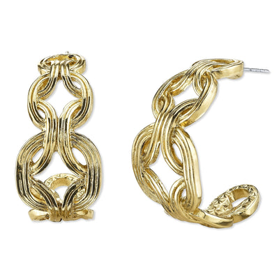 Gold Tone Hoop Earrings