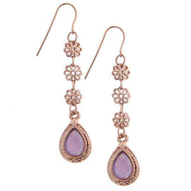 Morado Amor Delicate Teardrop Earrings