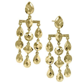 Gold-Tone Droplet Chandelier Earrings