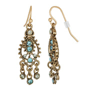 Blue Moroccan Chandelier Tribal Earrings