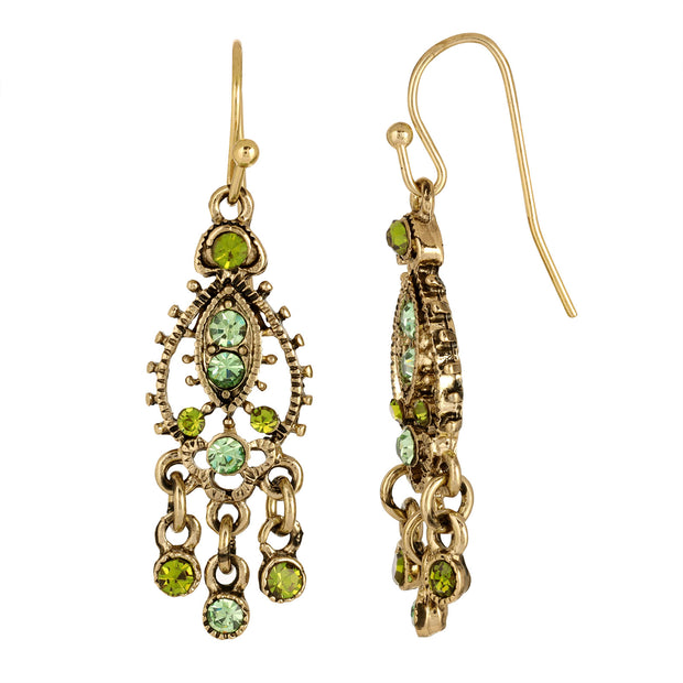 Green Moroccan Chandelier Tribal Earrings