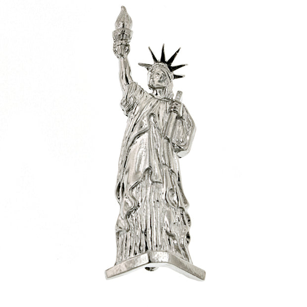 Silver Tone Statue Of Liberty Pin