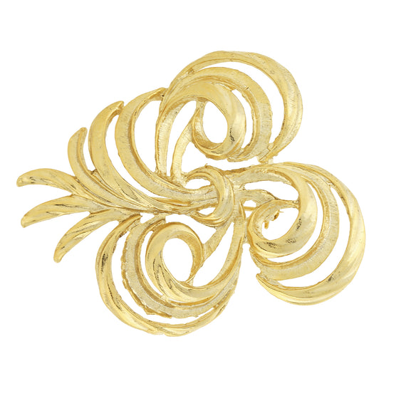 Gold-Tone Vintage Inspired Swirl Pin