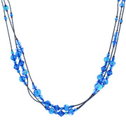 Ab Beaded Strand Necklace 16   19 Inch Adjustable