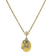 Gold Tone Locket And Silver Tone Crystal Initial Necklaces B