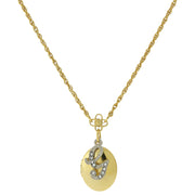 Gold Tone Locket And Silver Tone Crystal Initial Necklaces G