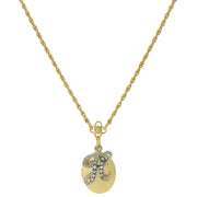 Gold Tone Locket And Silver Tone Crystal Initial Necklaces H