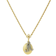 Gold Tone Locket And Silver Tone Crystal Initial Necklaces M