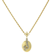 Gold Tone Locket And Silver Tone Crystal Initial Necklaces S