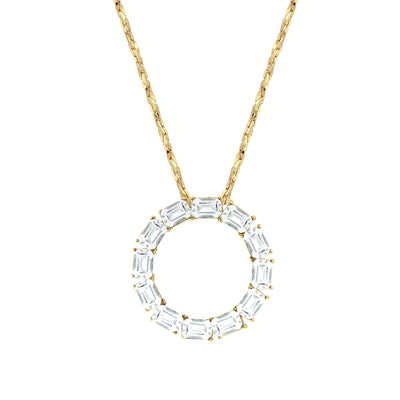 Gold-Tone Pendant Necklace with Swarovski Crystal 18 In