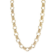 2028 Textured Link Chain Necklace 16 In Adj