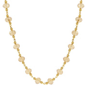Gold Tone Beaded Necklace 16   19 Inch Adjustable