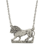 Justice For Cecil The Lion Necklace 16 - 19 Inch Adjustable