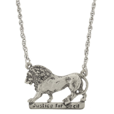Justice For Cecil The Lion Necklace 16   19 Inch Adjustable