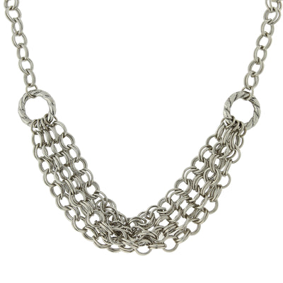 Silver Tone Chain Necklace 18 In