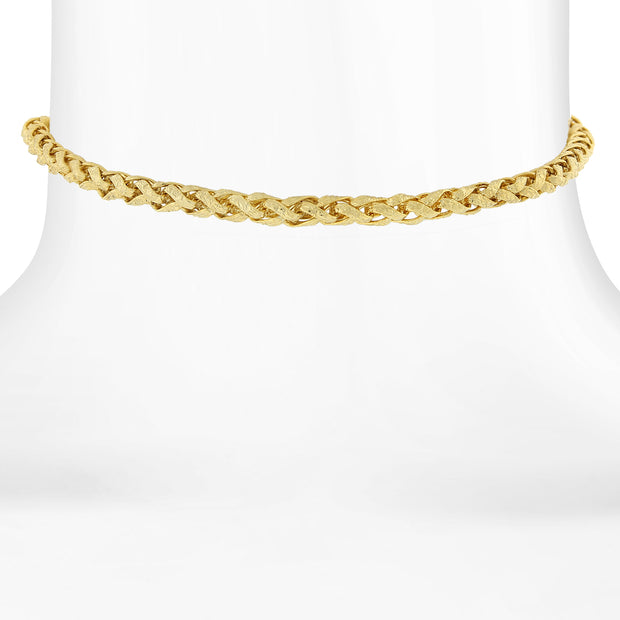 14K Gold Dipped Rope Chain Choker 12 In Adj