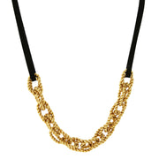 14K Gold Dipped Chain Necklace 16 - 19 Inch Adjustable