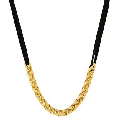 14K Gold Dipped Chain Necklace 16   19 Inch Adjustable
