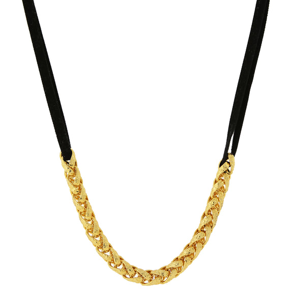 Fashion Jewelry - 14k Gold Dipped Chain Necklace 16