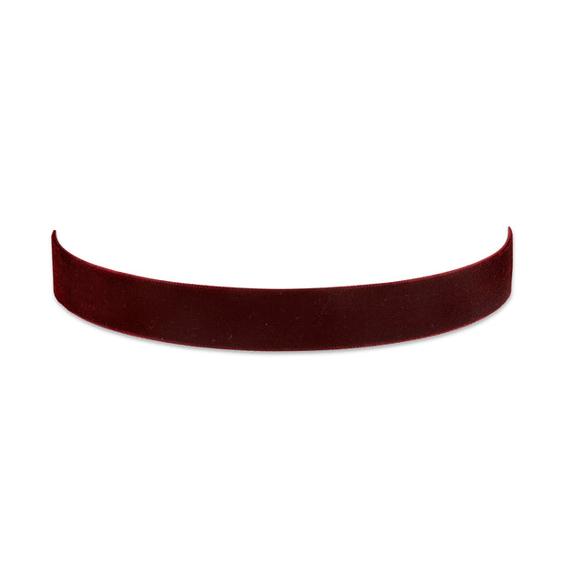 Burgundy Velvet Ribbon Choker 12 Inch Adjustable