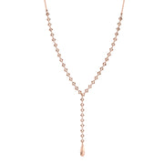 Rose Gold Tone Chain Y Necklace 13.5 In Adj
