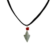 Pewter Genuine Red Jasper Black Leather Necklace 16 Inch
