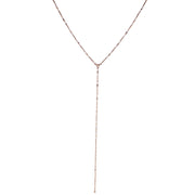 Rose Gold Tone Chain Y Necklace 16 - 19 Inch Adjustable