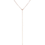 Rose Gold Tone Chain Y Necklace