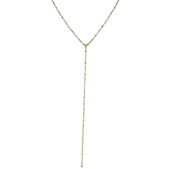 14k Gold Dipped Style Chain Adjustable Y Necklace