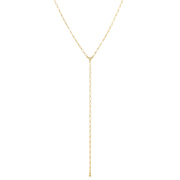 14k Gold Dipped Chain Y Necklace 16 - 19 Inches Adjustable