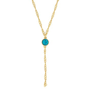 1928 Jewelry Gold Tone Crystal Y Necklace Chain 16 In Adj